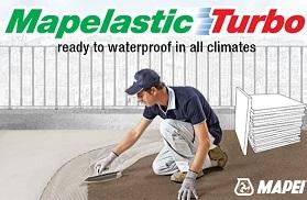 Mape-Asphalt Repair = asfalt-teekatte aukude kiire parandamine ja Hüdrotõke MAPELASTIC veetõkke mastiks rõdude, terrasside, basseinide tihendamiseks